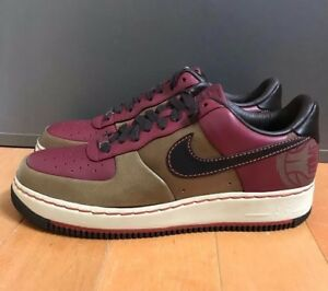 hot sale online e093e a2d90 Image is loading NIKE-AIR-FORCE-1-LOW-SUPREME-BALTIMORE-BROWN-