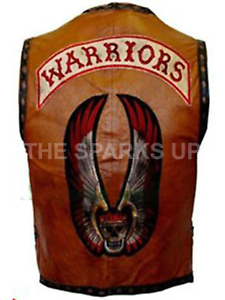 THE-WARRIORS-MOVIE-LEATHER-VEST-JACKET-BIKE-RIDERS-PARTY-COSTUME-BIG-SALE