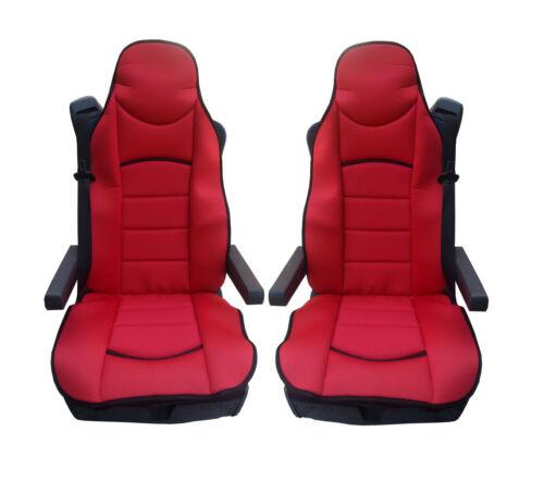 2x Rot Sitzauflage LKW-Sitz Sitzbezug Bezug Sitzschoner für MERCEDES BENZ ACTROS