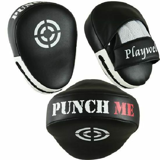 Playwell Curved Punch Me Focus Pads Boxing MMA Target Mitt Hook And Jab