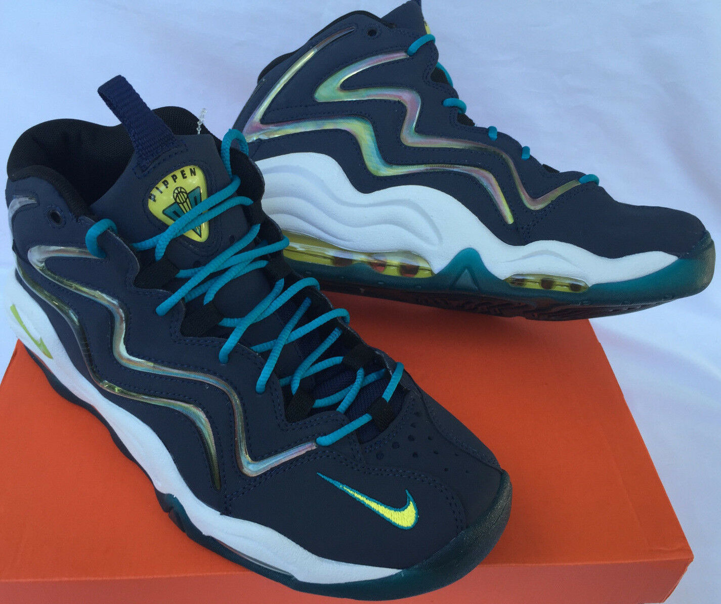 Nike Air Pippen 325001-400 Midnight Navy Yelfaible Basketball chaussures homme new 8 NBA new homme e45529