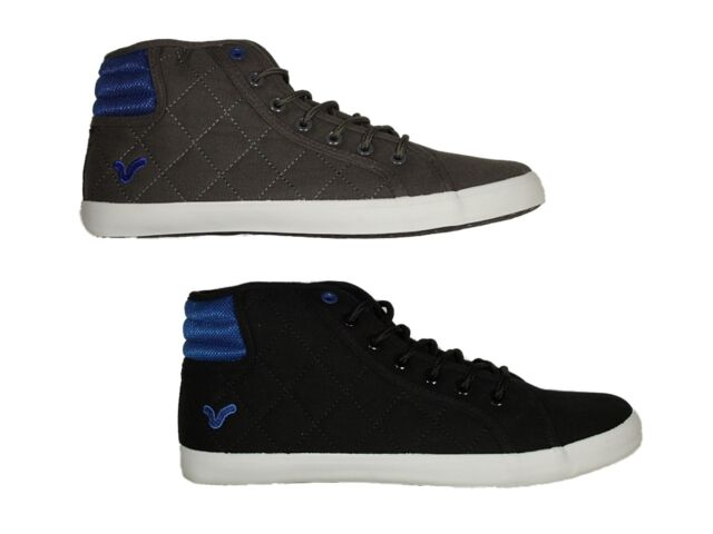 MENS NEW VOI  PUMPS CANVAS SHOES FOOTWEAR CLEARANCE BLACK BLUE GREY SNEAKERS