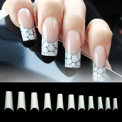 500pcsC Curve/Square/French Nail Well-less half Acrylic Gel False ...