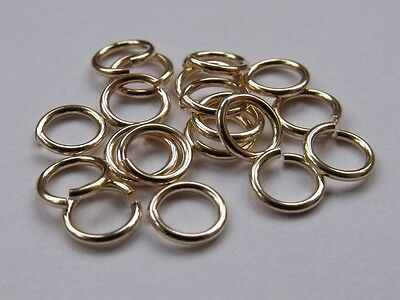 Gold Filled Open Jump Rings (1.0mm wire, approx. AWG 18). Pack of 10