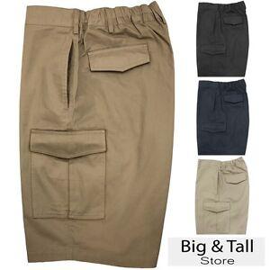 Big-amp-Tall-Men-039-s-Falcon-Bay-Cargo-Shorts-Expandable-Waistband-2XL-10XL-450