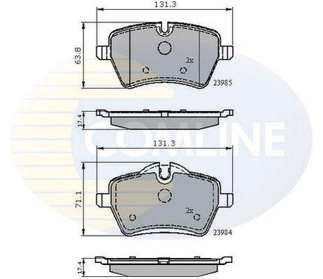 Comline Front Brake Pad Set CBP01673 GENUINE BRAND NEW 5 YEAR WARRANTY