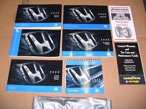 2006 honda civic sedan owners manual with navigation ebay rh ebay com 2006 honda civic lx repair manual 2006 honda civic lx coupe owners manual