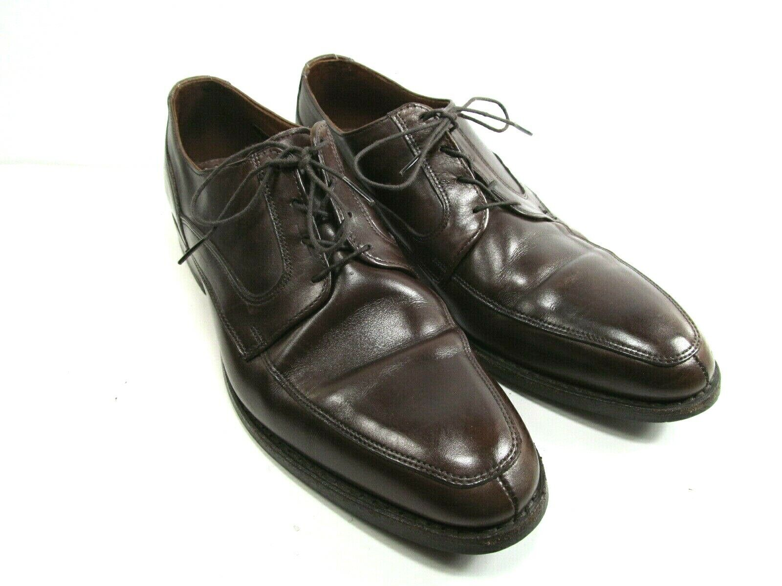 Allen Edmonds Montgomery para hombre de cuero marrón Split Toe Oxford tamaño nos 10.5 D Usado En Excelente Condición