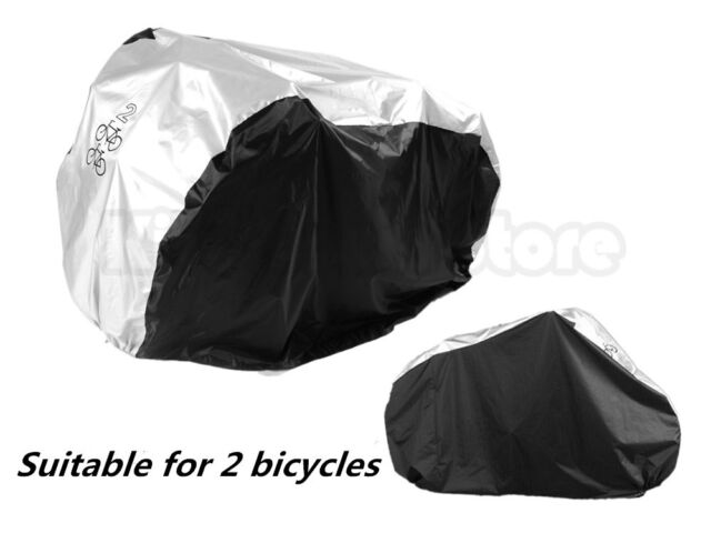 Waterproof Dual 2 Bicycle Cycle Scooter Cover Outdoor Rain Dust bask Protector