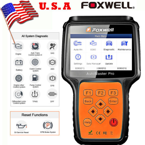 USA Ship FOXWELL NT680 All Systems Diagnostic Tool Engine ABS EPB DPF Oil Reset