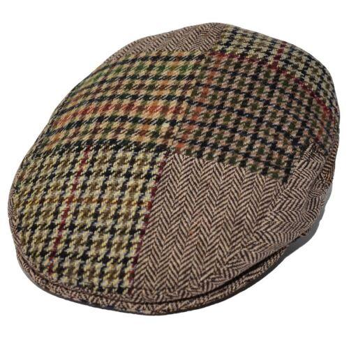 Maz Kids Brown Multicoloured Patchwork Peaky Blinders Style Flat Cap Hat