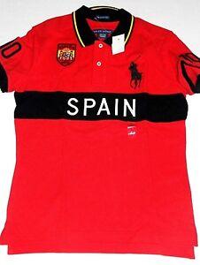 Polo ralph lauren women red shirt big pony spain flag for Spain polo shirt 2014
