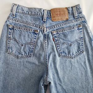Vintage-Levis-512-Jeans-Sz-9-Long-Juniors-Slim-Fit-Tapered-Leg-Stone-Wash-FLAWED