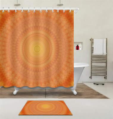 Orange Water Waterproof Bathroom Polyester Shower Curtain Liner Water Resistant