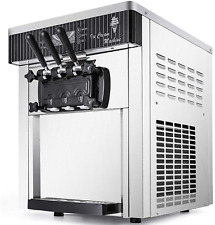 Vevor Commercial Ice Cream Machine 53 To 74gal Per Hour Soft Serve With Led Di
