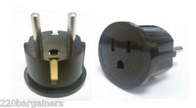 Plug Adapter - European / Asian Schuko Plug Adapter - USA to Europe / Asia