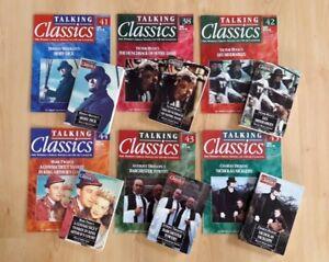 6-x-Talking-Classics-Audio-Cassettes-amp-Magazines-Moby-Dick-Les-Miserables