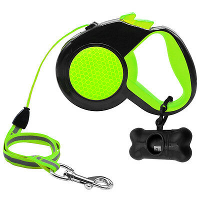 Retractable Dog Leash Automatic Reflective Pet Walk Leads for Small Large Dogs