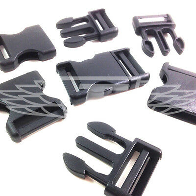 Black Plastic Side Release Buckles, Clips Sliders Webbing 25mm, Buckle Delrin Making Things Convenient For The People