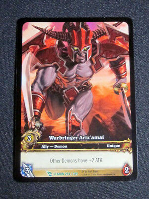 8 World of Warcraft WoW TCG Warbringer Arix/'amal Legion Promo Extended Art Un
