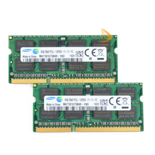 LOT Samsung 8GB 2RX8 PC3L-12800 DDR3-1600Mhz Laptop Memeory RAM SODIMM 1.35V