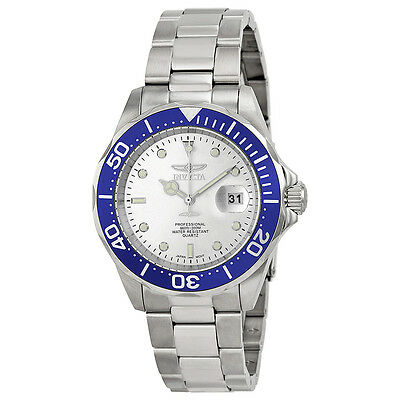 Invicta Pro Diver Silver Dial Stainless Steel Mens Watch 14123
