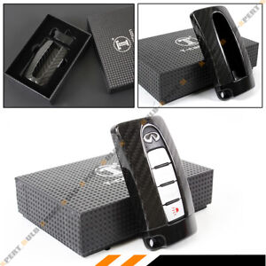 Details about BLACK GTR STYLE CARBON FIBER KEY FOB CASE COVER FOR INFINITI  Q50 Q60 Q30 G37 G35