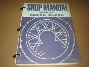 *HONDA USED VINTAGE - FACTORY SERVICE MANUAL - CB-CL200 - 1974