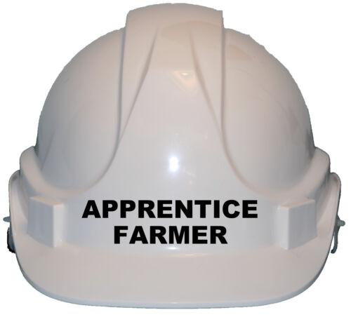 Apprentice Farmer Children//Kids Hard Hat Safety Helmet//Cap One Size Gift