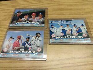 2001-Topps-Baseball-COMBOS-RUTH-JETER-MARIS-KOUFAX-amp-YOGI-BERRA-3-Card-Lot