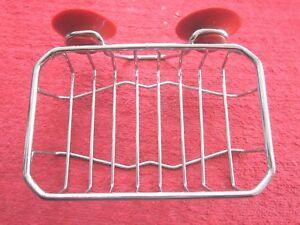 Details About Vintage 1957 Autoyre Chrome Wire Soap Basket Dish Nos