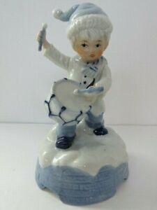 "Vintage Christmas Music Box Little Drummer Boy Ceramic Plays ""Joy to the World"" | eBay"