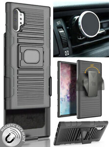 Black-Rugged-Case-Stand-Belt-Clip-Magnetic-Car-Mount-for-Galaxy-Note-10-Plus