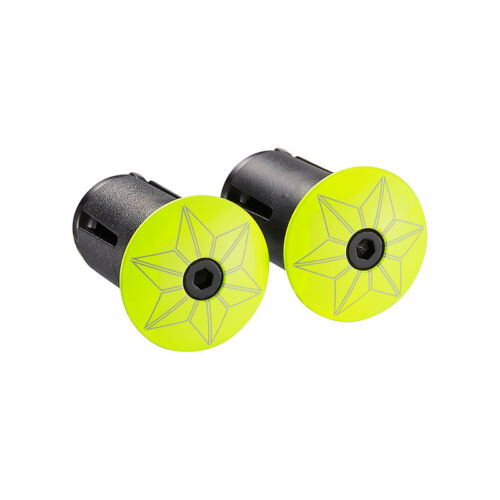 Handlebar Plugs Supacaz Star Plugz ALY//PC Neon Yellow