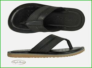 Típico Desaparecer Refinamiento  Geox Chanclas De Hombre Piel Sandalias Cuero Zapatillas Zapatos Verano  Artie | eBay