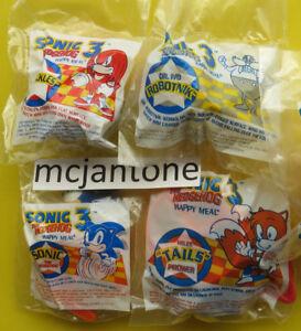 -  Complete Set of 4 Sega McDonalds 1994 Sonic 3 The Hedgehog MIP