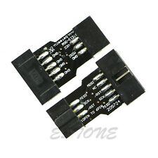 2pcs 10 Pin Convert to 6 Pin Adapter Board for ATMEL AVRISP USBASP Stk500