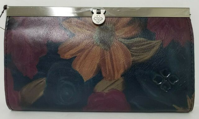 Patricia Nash Leather CAUCHY Wallet Clutch PERUVIAN Painting NWT E12,