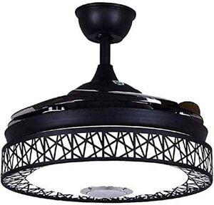 42-Ceiling-Fan-Light-Remote-Bluetooth-Speaker-LED-3-Light-Retractable-Blades