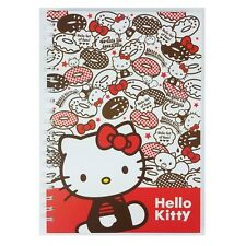 Hello Kitty Hard Cover Spiral Notebook : Donut (L)