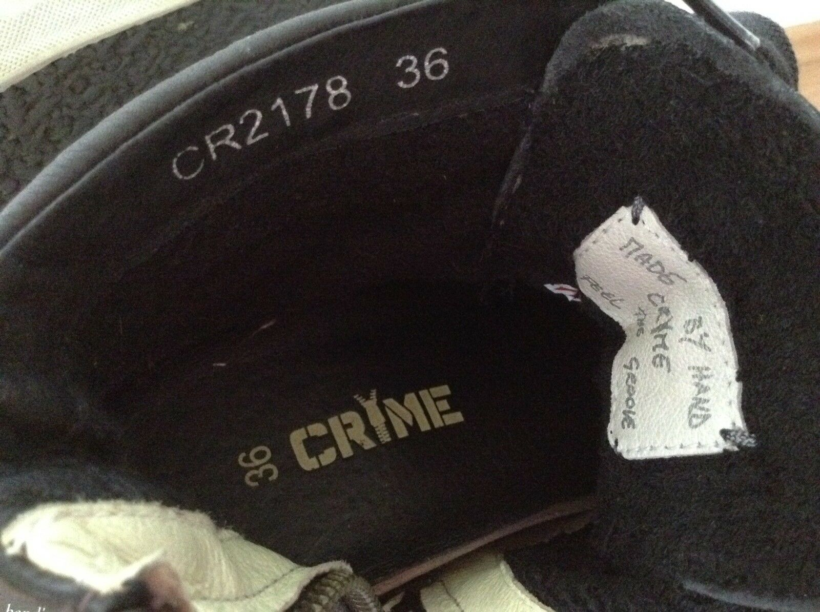 Damen Sneaker  von Crime London Lederschuh Gr. 36 Neuwertig  NP  Lederschuh London Metallic 3b6cb1
