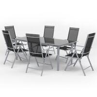 7-tlg Alu Gartenmöbel Set Sitzgruppe Tisch Gartengarnitur Gartenset Sitzgarnitur