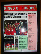 Manchester United 2 Bayern Munich 1 - 1999 Champions League - framed print