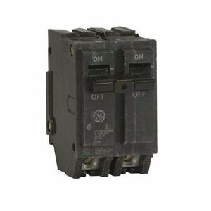 Ge Thql2115 Circuit Breaker Double Pole 15 Amp Thick Series Ebay