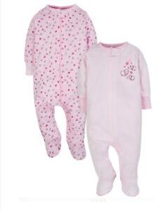 04caf7910 Gerber Wonder Nation Baby Girl Pajama Zip Up Sleep N Plays Set 3-6 ...