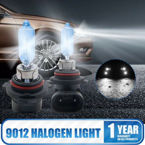Pair of 9012 12V 55W HIR2 PX22D Headlight Headlamp Halogen Bulbs Super White