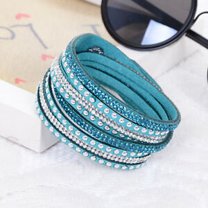 Teal-and-Silver-Studded-Vegan-Leather-Wrap-Bracelet