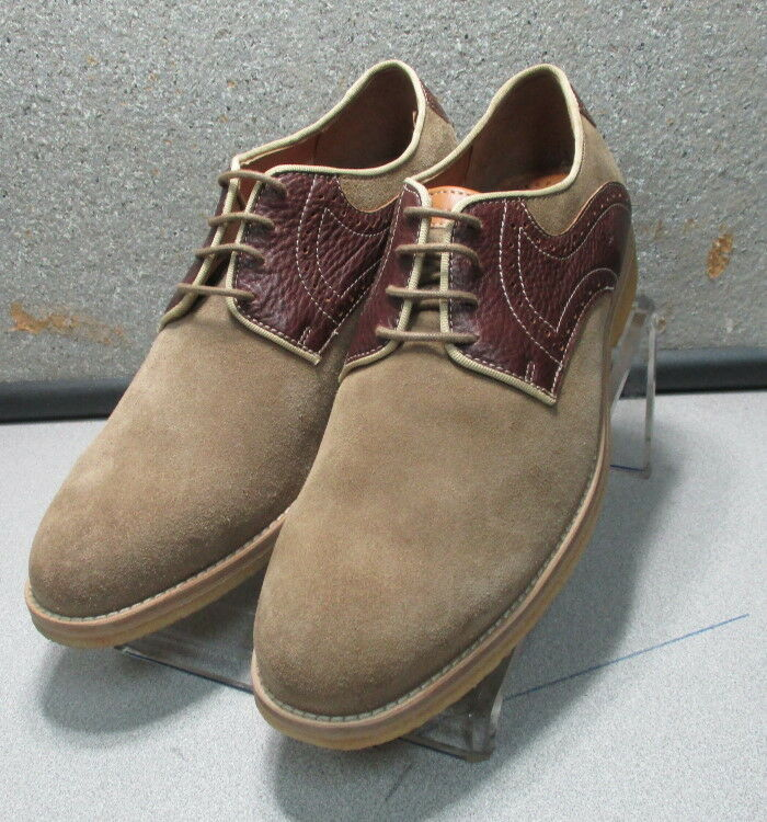 271166 MS50 Men's shoes Size 13 M Light Brown Suede Lace Up Johnston & Murphy