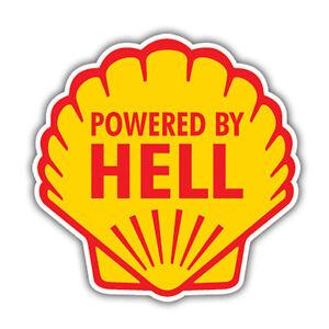 POWERED-BY-HELL-bumper-sticker-hotrod-vw-ratlook-hood-single-shell-70x70mm