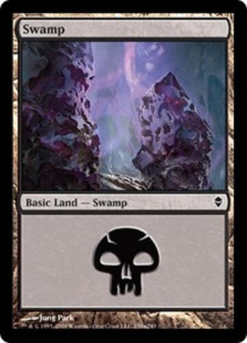 SP//NM SAME ART Magic MTG FTG 20 Basic Land #239a Zendikar Swamp